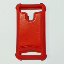 Бампер универсальный для телефона 3,5 - 4,0 дюймов Красный