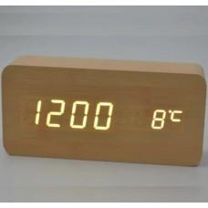 Часы настольные VST 862 Белая подсветка Бежевый