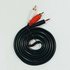 Стерео кабель 3,5 мм JACK- 2 RCA Zixunlan 1,5 метра Черный