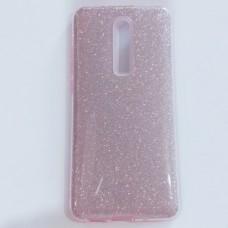 Бампер  для Xiaomi Mi 9T/ K20 с блестинками Розовый