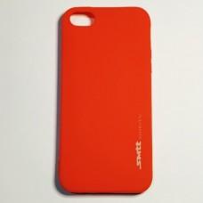 Бампер для iPhone 5/5S/5SE Smit силиконовый Красный