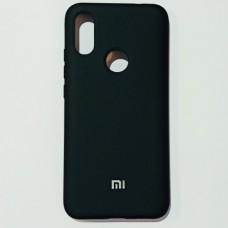 Бампер для Xiaomi Redmi 7 Soft Touch Черный