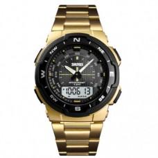 Кварцевые Mилитари часы Skmei 1370 Золотой