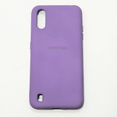 Бампер для Samsung A01/A015 Soft-touch Фиолетовый