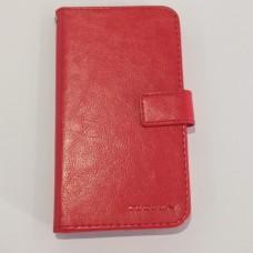 Чехол-книжка универсальный 5.5 дюйма Красный