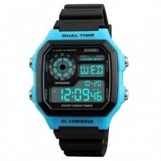 Спортивные электронные часы Skmei 1299 Черный+Синий