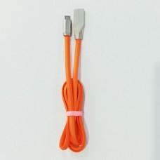 Кабель Zinc micro USB 1 метр Оранжевый