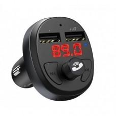 Автомобильный FM модулятор Hoco E41 Черный