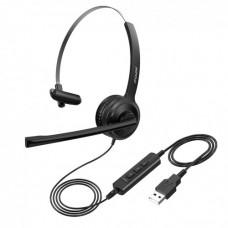 Навушники з мікрофоном для Call центру BH323 Чорний