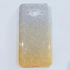 Бампер  для  Samsung J320  с блестинками Золотистый
