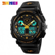 Спортивные часы Skmei S Shock Черно-Желтый