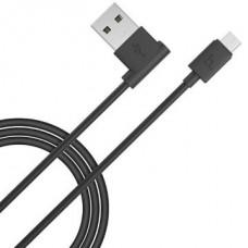 Кабель Hoco UPM 10 micro USB угловой длина 1,2 метрa Черный