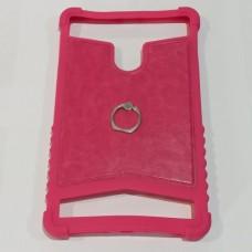 """Универсальный бампер накладка для планшета 8"""" с кольцом Розовый"""