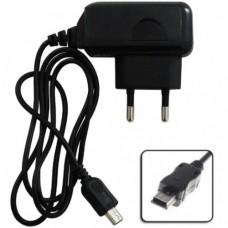 Мережевий зарядний пристрій 0.8 mAh mini usb Чорний