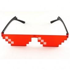 """Очки """"Minecraft"""", """"8 bit"""", """"Deal with it"""", """"thug life"""" для вечеринок Красный"""