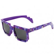 Тематические, пиксельные, очки Minecraft 8 bit для взрослых Фиолет