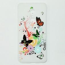 Бампер для Xiaomi Redmi 5 с бабочками Белый