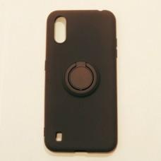 Бампер для Samsung A01/A015 с кольцом Черный