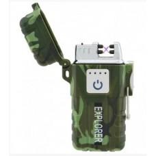 USB зажигалка JL317 Explorer Хаки