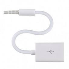 Кабель AUX - USB 12 см Белый