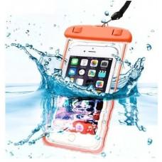 IP68 универсальный водонепроницаемый чехол для смартфона Оранжевый