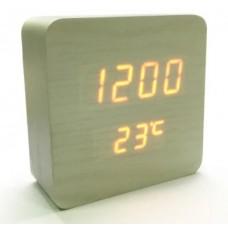 Часы настольные в виде деревянного бруска VST-872-5 Бежевый
