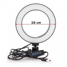 Кольцевая LED селфи лампа диаметр 16см. Белый