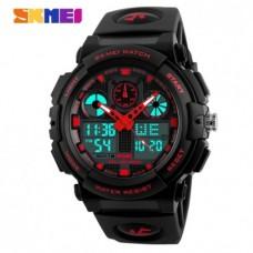 Спортивний годинник Skmei S-Shock Чорний+Червоний