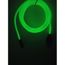 Светящиеся USB кабель Hoco Х21 Plus micro usb 1 метр Салатовый