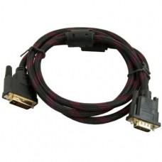 Кабель VGA-DVI 1,5 метра усиленный Черный