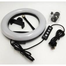 Кільцева LED селфі лампа діаметр 20 см. Білий