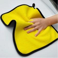 Салфетка из микрофибры для дома и авто Желтый+ Серый