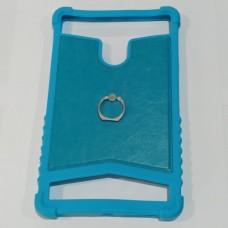 """Универсальный бампер накладка для планшета 8"""" с кольцом Синий"""