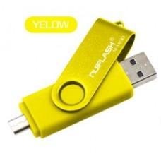 OTG USB Флеш накопичувач 64GB Nuiflash micro USB Жовтий