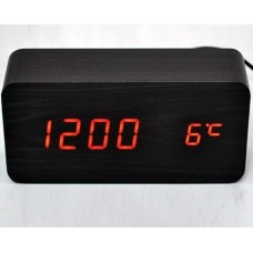 Часы настольные VST 862-1 Красная подсветка Черный