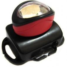 Фонарик налобный BL 536 COB Черный+Красный