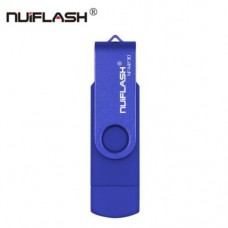 OTG USB Флеш накопитель 32 GB Nuiflash (Флешка) Синий