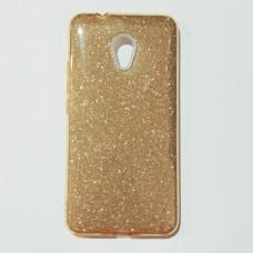 Бампер для Meizu M5 з блискітками Золотий