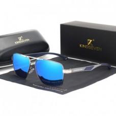 Сонцезахисні окуляри KINGSEVEN 7719 з футляром Синій+Сірий