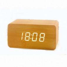 Часы настольные VST 863-1 Красная подсветка Бежевый