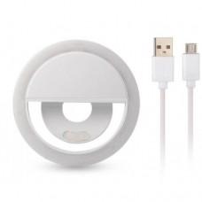 Кольцо для селфи Selfie Ring Light XJ-01 на аккумуляторе Белый