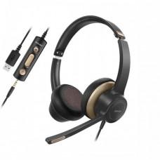 Навушники  BH328A з мікрофоном Чорний+ Золото