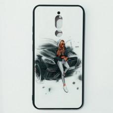 Бампер для Xiaomi Redmi 8 Lady Белый