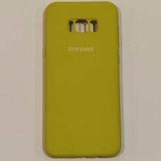 Бампер для телефону Samsung Galaxy S8 Plus з пилоуловлювачем Жовтий