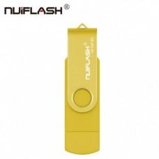 OTG USB Flash накопитель 32 GB Nuiflash Желтый