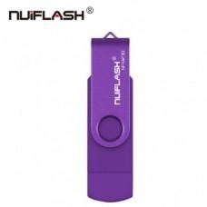 OTG USB Flash накопитель 64 GB Nuiflash Фиолет