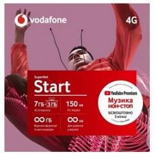 "Стартовый пакет Vodafone ""Start"" месячный пакет включен 4G"