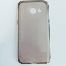 Бампер для Samsung A320 Прозрачный Темный